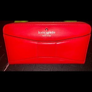 Kate Spade Cobble Hill Bow Lacey Zip Around Wallet